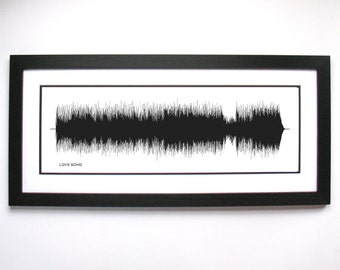 """311 """"Love Song"""" - Art Print, Framed Print, or Canvas - Song/Music Wall Art from Sound Waves """"However far away, I will always love you..."""""""