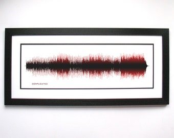 Complicated - Music Art Sound wave Print - Song Lyric Art, Sound wave Poster