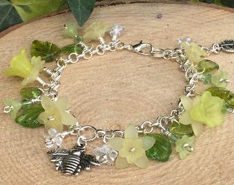 Narcissi Daffodil Charm Bracelet