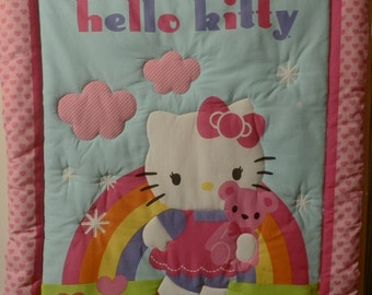Hello KItty Hand made quilts from a smoke free home.