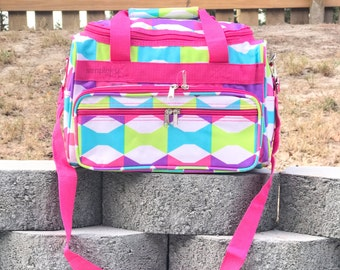 Colorful DUFFLE Bag, Kids Duffle Bag, Bow Tie Duffle Bag, Small Duffle Bag, Girls Duffle Bag, Cosmetic Bag, Monogrammed Gifts, Gifts for Her