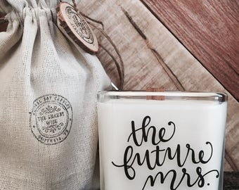 The Future Mrs - Bride To Be Gift - Bride To Be Candle - Engagement Gift - Engagement Candle - Bridal Shower Gift