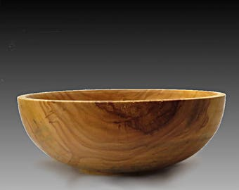 Woodturning,Spalted wood bowl, turned wood bowl,turned salad bowl,cotton wood bowl,wood salad bowl,popcorn bowl
