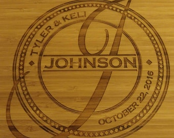 Wedding Monogram Engraved Cutting Boards -