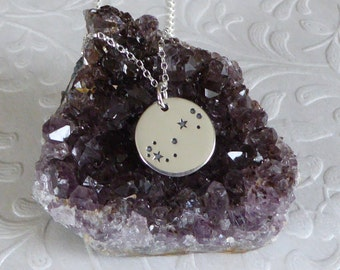 Scorpio Constellation Necklace ~ Sterling Silver ~ Etched Zodiac Constellation