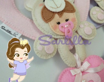 Decorations for baby cot