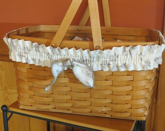 Longaberger Natural Botanical Basket Garter - Large