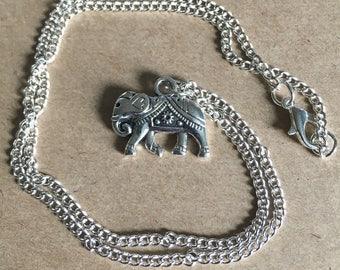Elephant Charm Necklace, Tribal Elephant Necklace