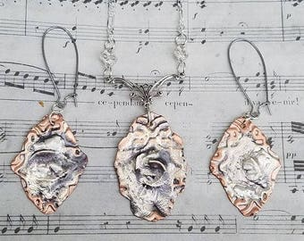 Sterling Silver & Copper Jewelry Set