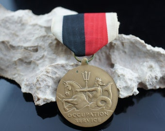 World War II Navy Occupation Service Medal service medal of the United States Military Vintage Art  u260
