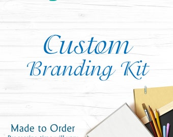 Branding Kit Custom, Contact before purchase, Business Cards, Letterhead, Facebook Header, Thank You Cards, Photoshop Overlays, DIY