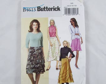 Butterick Pattern B4615, Woman's Flared Skirt - Uncut
