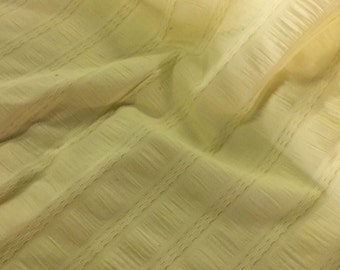 Vintage Light Yellow 100% Cotton Material