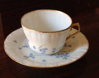Beautiful Handpainted Bone China Cup and Saucer
