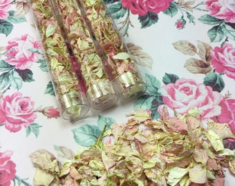 Confetti wands biodegradable petals light pink and hints of ivory wedding decorations