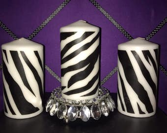 Zebra Print candle