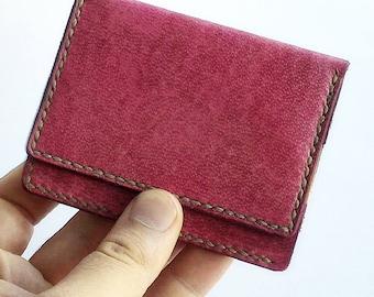 Bifold leather card hoder wallet, leather card case, slim wallet, credit card holder, front pocket wallet, card holder, business card case