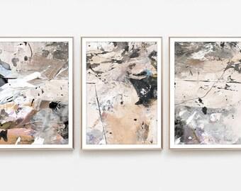Abstract Art Print Set, Set of 3 Prints, Printable Abstract, instant download, Minimal art, 11x14 Print 10x8 Prints, Gallery prints