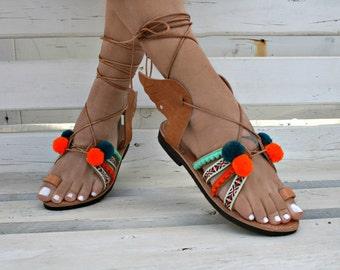Bohemian H.Ermes Greek leather sandal