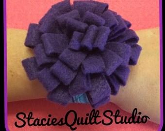 Wrist Pincushion for Quilt Clips - PURPLE