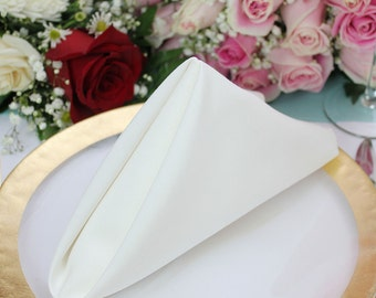 Ivory Napkin 20 x 20 inches, Wholesale Ivory Cloth Napkins for Weddings, Hotels and Restaurants