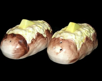 Vintage Shakers,Baked Potato, S&P Shakers, Retro Shakers, Unique Shakers, Table Decor, Potato Shakers, Vintage Shakers, Collectibles