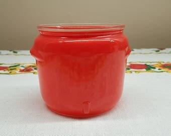 Vintage Red Honey Whip Jar