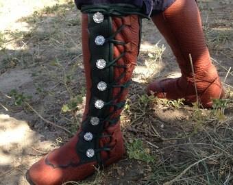 Buffalo Moccasins - tall boots