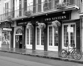 Court of Two Sisters, New Orleans Photography, French Quarter, NOLA, Restaurant, Wall Art, Black and White or Color Print