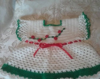Baby girl dress, crochet dress, girl dress, baby dress, newborn dress, crochet girl dress ,ready to ship
