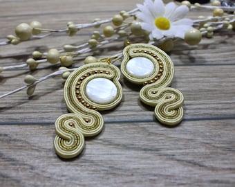 earrings / soutache technique / handmade