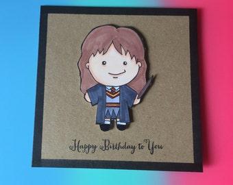 Hermione birthday card