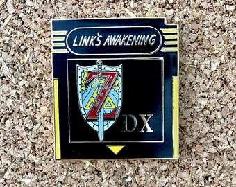 Zelda DX Links Awakening Cartridge Lapel Pin Collab wirh SkullKidDesigns
