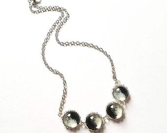 Custom Moon Phase Necklace // Birthday Moon Phase Necklace // Family Moon Phase // Family Gift // Personalised Jewelry