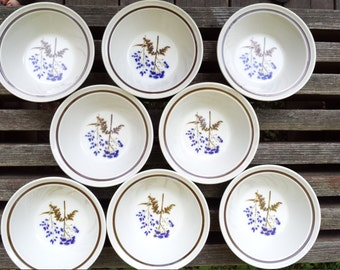 Lot of 8 Noritake Primastone Winsome Soup Cereal Berry Bowls 6.5 inches