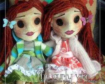 Custom look-a-like fabric textile Cherish Doll
