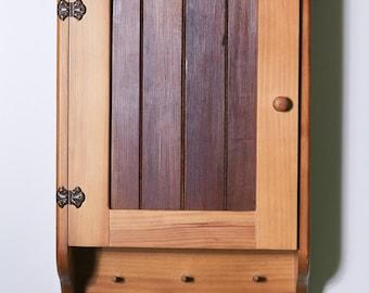 Wooden Bathroom Cabinet – 3 Shelves – Timber Front