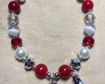 Ohio State Buckeyes Charm Stretch Bracelet