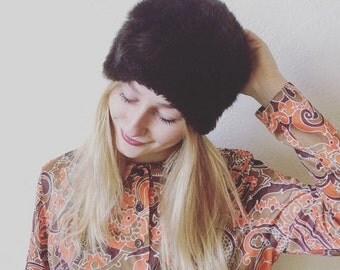Nutshell Vintage 70s Boho Furry Hat