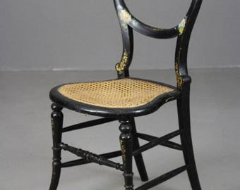 Antique Ebonised Occasional Chair