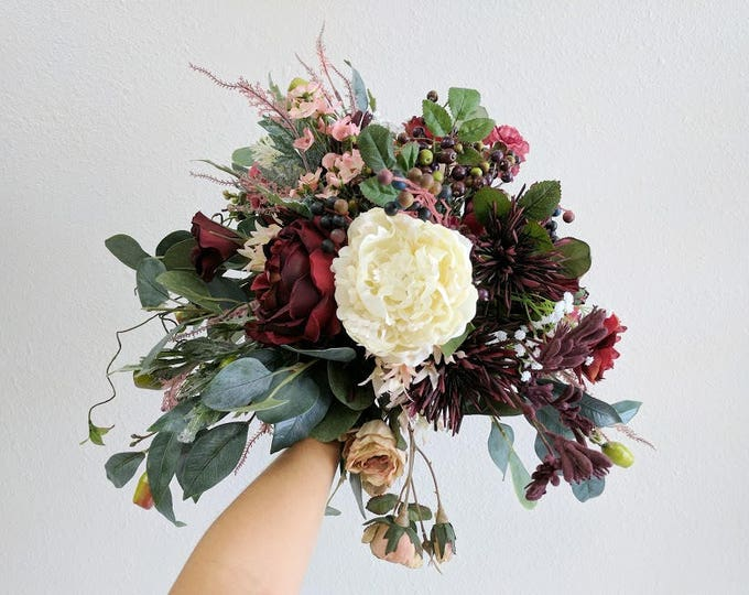 Featured listing image: Wedding Bouquet, Silk Flower Bouquet, Wedding Flowers, Bridesmaid Bouquets, Bouquet, Flower Bouquet, Silk Flowers, Bridal Bouquet