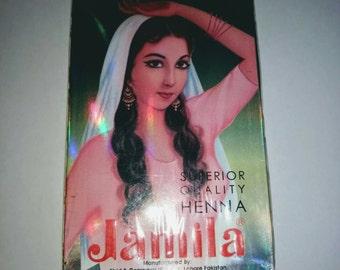 Jamila Henna body art quality mendhi suitable for hair and body art super sift summer crop 2015 100g Henne Mehndi temporary tattoo hair dye