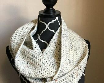Oatmeal infinity scarf