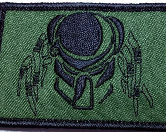 VELC. HookFastener OLIVE PREDATOR Military Tactical Airsoft Paintball Morale Operator Cap Patch
