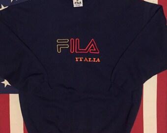 Vintage Fila Italia Crewneck Bootleg