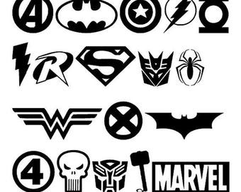 SVG, disney, avengers logos, avengers, avengers logos, marvel, super hero, disney cut file, printable,  cricut, silhouette, instant download