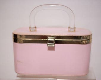 Pretty Pink Box Purse.  Includes Pink Pearl Bracelet