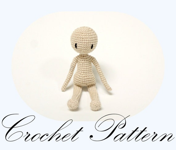 Amigurumi Doll Basic Doll Pattern Crochet by PinkMouseBoutique