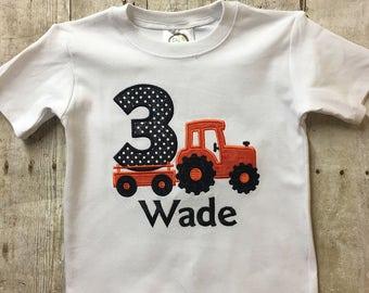 3rd Birthday Tractor Shirt, Tractor Birthday Shirt, Boy Birthday Shirt, Personalized Birthday Shirt, Kubota Birthday Shirt, Boy Birthday