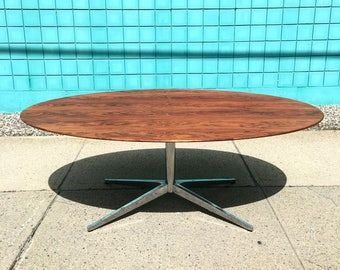 Florence Knoll | Rosewood Oval Desk / Table | Mid Century confere